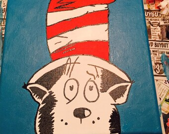 Dr Seuss canvas- The Cat in the Hat