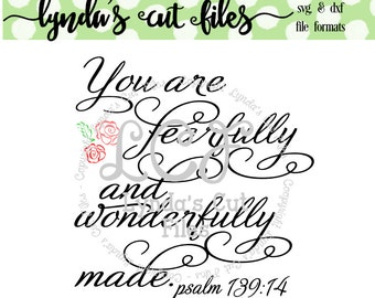 You are fearfully and wonderfully made SVG/DXF/EPS file