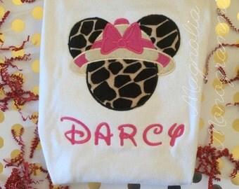 Appliquéd Minnie Mouse Safari Shirt