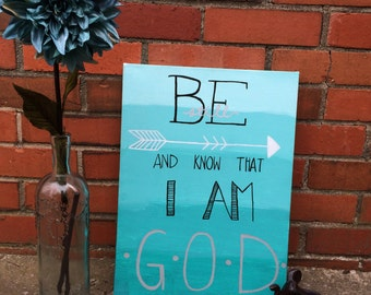 Be Still and Know Custom Canvas Scripture