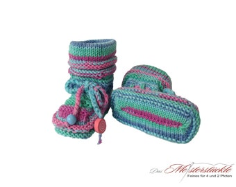 Baby hand knitted summer boots