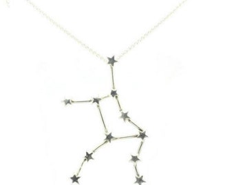 Virgo Necklace - Sterling Silver Star Sign Constellation Zodiac Horrorscope