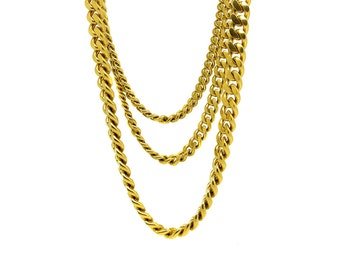 Vintage 1980s Multi-Chain Gold Plated 'Monet' Necklace   Gold Chain   Large Chain   Vintage Chain   Statement Chain   Chain Necklace