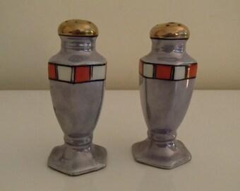 Art Deco Lusterware Nippon S&P Shakers