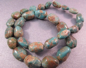 Turquoise Nuggets Beads 29pcs
