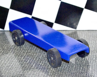 LINE JUMPER - Pinewood Derby Car -or- AWANA Grand Prix Pine Car from Official Boy Scout / Cub Scout Derby Kit, Race Ready ~ 100% Legal