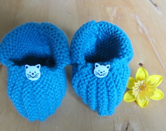 Adorable little booties for a 3 to 6 month old baby