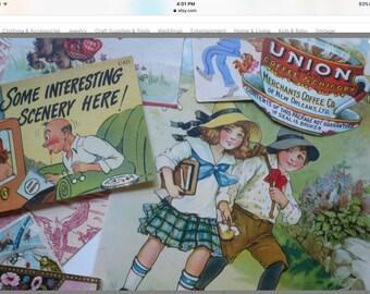 Scrapbook Paper Vintage Ephemera Papers  Supplies Vintage Paper  Antique Paper Goods Paper Pack Mixed Media Collage