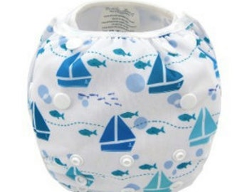 Reusable Swimming Nappies/Diapers - Boats