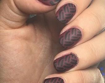 Braid Weave Braided Nail Art Vinyl Stencils