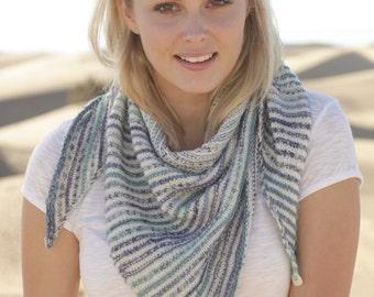 Shawl SCHULTERWÄRMER KNITTING cloth stripe scarf