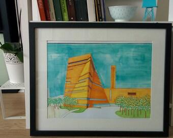 New Tate Modern, London A3 print Home décor