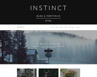 Instinct - Blog & Portfolio HTML Website Template (live preview below)