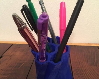 3D Printed Pen/Pencil Holder // Home and Office // Desk Organization