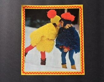 Vintage Magazine Clipping- Two Girls in the Snow