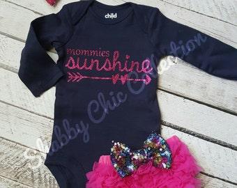 Mommies sunshine boutique set
