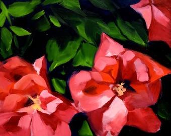 Wild Rose Oil Painting II