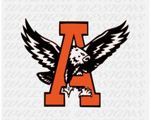 Auburn Football War Eagle digital download DXF, EPS, SVG cutting file for silhouette studios and cricut machines