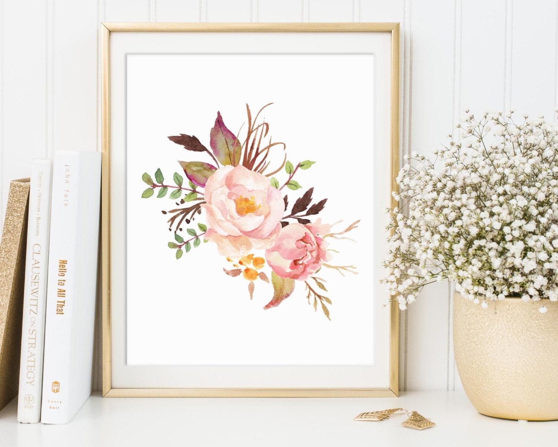 floral print floral decor floral wall art floral printable