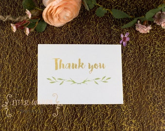 Bohemian Thank You Cards - Thank You Card - Gold Thank You