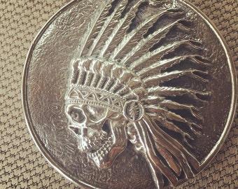Grateful Dead Belt Buckl in Sterling Silver