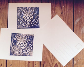 Thistle Print Postcards-packs of 4