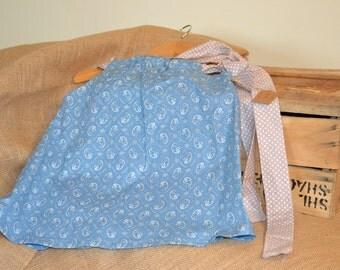 Handmade little girls strappy dress