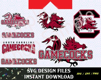 South Carolina Gamecocks Logo SVG Vinyl Cutting Decal, for Mugs, T Shirts, Cars  SVG files for Silhouette Cameo Cut Files,  SVG Car Decal