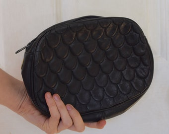 90s Leather Quilted Clutch