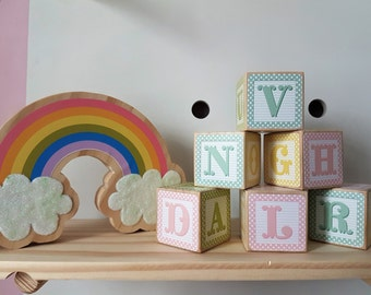 Alphabet Wooden Blocks, Decorative Wooden Blocks, Wooden Toys, Alphabet and Number Blocks