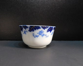 Flow Blue Cranberry Bowl By Grindley Pattern Brazil