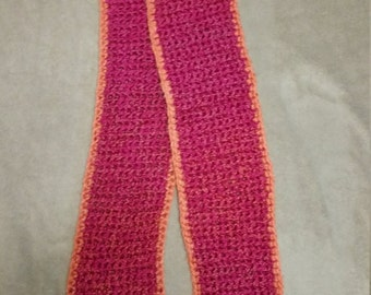 Pink and Orange Scarf
