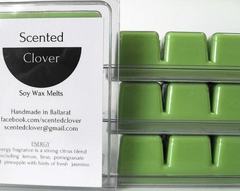 Energy Scented Soy Wax Melt, Wax Melt, Wax Tart, Soy Wax Tart, Home Fragrance, Scented Wax Melts,  Scented Wax Tarts
