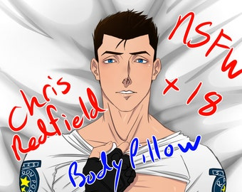 Body Pillow CASE-Chris Redfield-Resident Evil