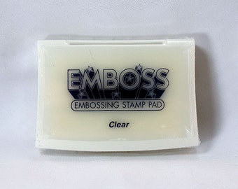 Clear Emboss Stamp Pad - Clear Ink - Archive Ink - Clear Archive Ink - Permanent Clear Ink - Embossing Ink - Mixed Media Ink