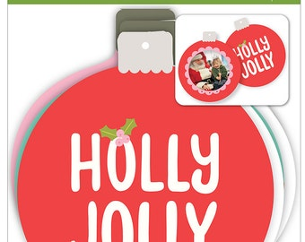 Ornaments - Holly Jolly Ornaments - Christmas Ornaments - Holly Jolly Christmas Ornaments - Holly Jolly Cardstock Ornaments