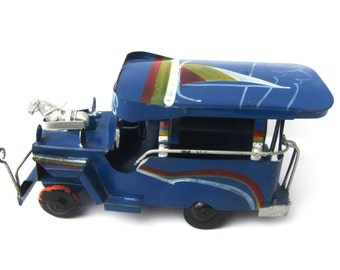 Vintage Tin Toy Truck, Tour Bus, Philippines, Collectible