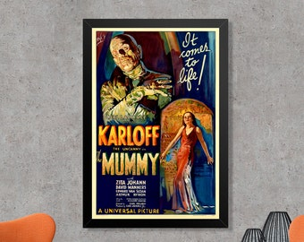 The Mummy Vintage Movie Poster Print - Vintage Horror Movie Poster Art