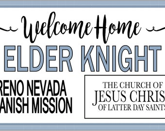Missionary Welcome Home Banner 1