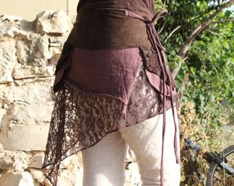 SALE Fairy Hippie Boho Goa Festival Gypsy Bohemian Skirt With Pocket
