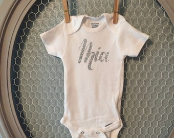 Personalized Girls Name Onesie