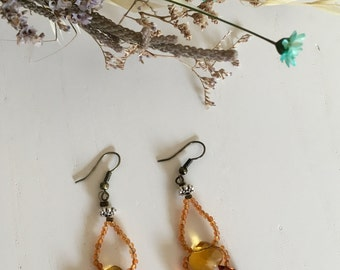 Precious gemstone earrings