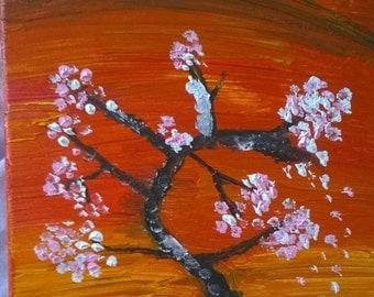 Cherry Blossom Sunset, Small canvas