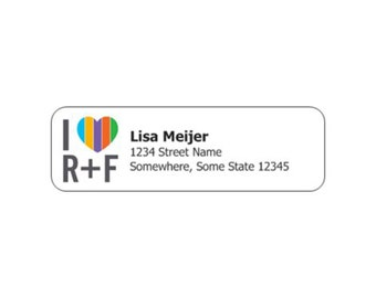"""Printed Rodan and Fields Return Address Labels 2.66"""" x 0.83"""" PRINTED AND SHIPPED"""