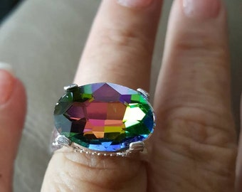 Mystic Fire Topaz Ring- size 8!