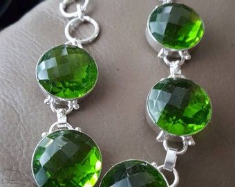Peridot Bracelet- 9 inches!