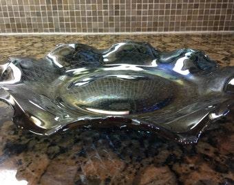 Carnival Glass Plate/Bowl