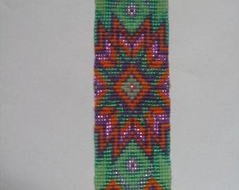 Native American inspired design cuff bracelet