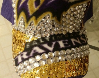 Personalized Baltimore Ravens Hats; Bling/Rhinestone