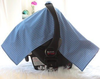Blue car seat canopy, boy car seat canopy, Car Seat Cover, Car Carrier Cover, Car Seat Canopy, car seat tent, girl car seat cover